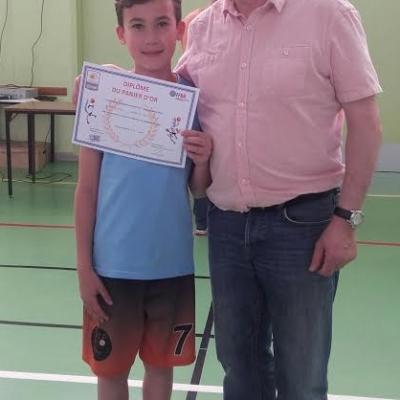 Alban, classé 3ème du Panier d'Or Régional avec 136 points