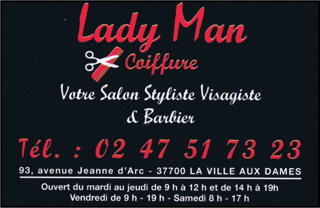 Lady Man Coiffure